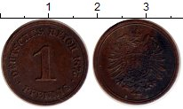 Изображение Монеты Европа Германия 1 пфенниг 1875 Медь XF