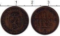 Изображение Монеты Германия Рейсс-Шляйц 1 пфенниг 1862 Медь XF-