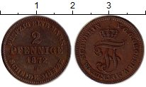 Изображение Монеты Германия Мекленбург-Шверин 2 пфеннига 1872 Медь XF+