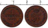 Изображение Монеты Мекленбург-Шверин 1 пфенниг 1872 Медь XF Фридрих Франц II