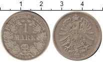 Изображение Монеты Европа Германия 1 марка 1881 Серебро XF-