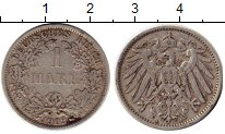 Изображение Монеты Европа Германия 1 марка 1902 Серебро XF