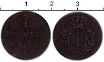 Изображение Монеты Европа Бранденбург - Пруссия 1 пфенниг 1810 Медь VF