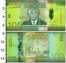 Изображение Банкноты Австралия и Океания Самоа 100 тал 2008  UNC