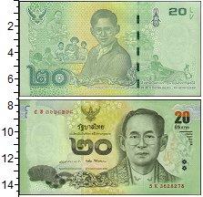 Изображение Банкноты Азия Таиланд 20 бат 2017  UNC