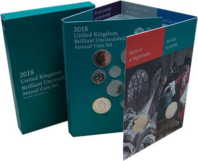 Изображение Подарочные монеты Великобритания Набор 2018 года 2018  UNC