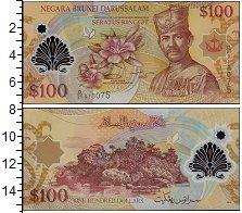 Изображение Банкноты Бруней 100 рингит 2013  UNC