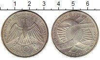 Изображение Монеты ФРГ 10 марок 1972 Серебро UNC- Олимпийские игры в М