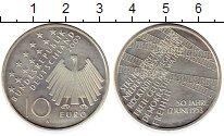 Изображение Монеты Германия 10 евро 2003 Серебро UNC А  50 - летие  народ