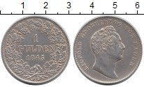 Изображение Монеты Баден 1 гульден 1845 Серебро XF