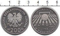 Изображение Монеты Польша 200 злотых 1987 Медно-никель Proof- Чемпионат мира по фу