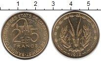 Изображение Монеты Западная Африка 25 франков 1972 Латунь UNC-