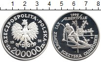 Изображение Монеты Европа Польша 200000 злотых 1991 Серебро Proof-