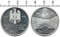 Изображение Монеты Германия ФРГ 10 марок 1998 Серебро Proof-
