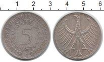 Изображение Монеты Германия ФРГ 5 марок 1967 Серебро XF