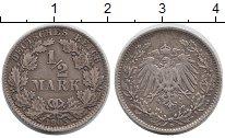 Изображение Монеты Европа Германия 1/2 марки 1905 Серебро XF