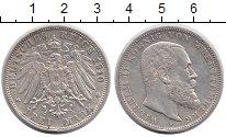 Изображение Монеты Германия Вюртемберг 3 марки 1910 Серебро XF