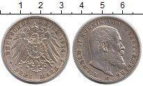 Изображение Монеты Германия Вюртемберг 3 марки 1914 Серебро XF