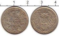 Изображение Монеты Германия 1/2 марки 1915 Серебро XF J
