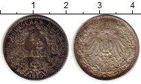 Изображение Монеты Германия 1/2 марки 1915 Серебро XF D