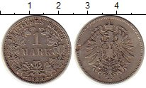 Изображение Монеты Европа Германия 1 марка 1886 Серебро XF-