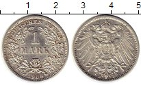 Изображение Монеты Европа Германия 1 марка 1906 Серебро XF