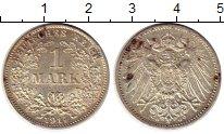 Изображение Монеты Европа Германия 1 марка 1914 Серебро UNC-