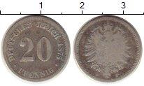 Изображение Монеты Германия 20 пфеннигов 1875 Серебро VF