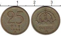 Изображение Монеты Швеция 25 эре 1948 Серебро XF