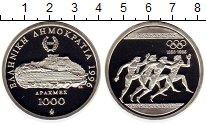Изображение Монеты Греция 1000 драхм 1996 Серебро Proof