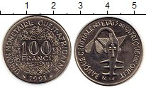 Изображение Монеты Западная Африка 100 франков 1991 Медно-никель UNC- Золотая гиря народа