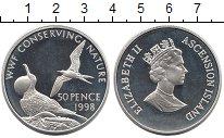 Изображение Монеты Великобритания Остров Вознесения 50 пенсов 1998 Серебро Proof-