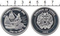 Изображение Монеты Тонга 1 паанга 1992 Серебро Proof-