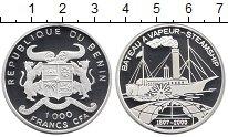 Изображение Монеты Африка Бенин 1000 франков 2000 Серебро Proof
