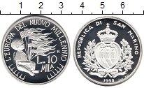 Изображение Монеты Сан-Марино 10000 лир 1998 Серебро Proof Европа