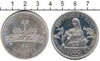 Изображение Монеты Северная Америка Гаити 50 гурдес 1974 Серебро Proof-