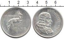Изображение Монеты ЮАР 1 ранд 1966 Серебро UNC-