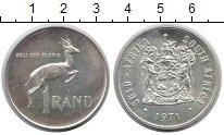 Изображение Монеты Африка ЮАР 1 ранд 1971 Серебро UNC-