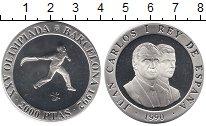 Изображение Монеты Европа Испания 2000 песет 1990 Серебро Proof