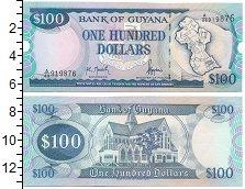 Изображение Банкноты Гайана 100 долларов 1989  UNC