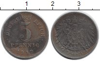 Изображение Дешевые монеты Европа Германия 5 пфеннигов 1919 Железо VF