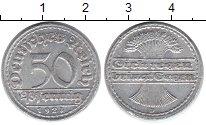 Изображение Дешевые монеты Веймарская республика 50 пфеннигов 1921 Алюминий XF D
