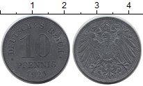 Изображение Дешевые монеты Германия 10 пфеннигов 1921 Цинк VF