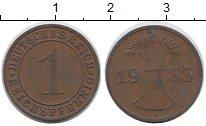 Изображение Дешевые монеты Германия 1 пфенниг 1924 Медь VF
