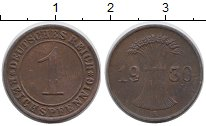 Изображение Дешевые монеты Германия 1 пфенниг 1930 Медь VF