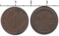 Изображение Дешевые монеты Германия 1 пфенниг 1931 Медь VF