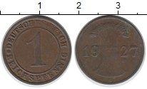 Изображение Дешевые монеты Германия 1 пфенниг 1927 Медь VF