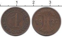 Изображение Дешевые монеты Германия 1 пфенниг 1927 Медь