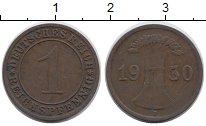 Изображение Дешевые монеты Европа Германия 1 пфенниг 1930 Медь VF