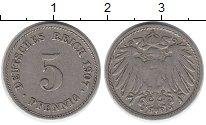 Изображение Дешевые монеты Европа Германия 5 пфеннигов 1907 Медно-никель VF